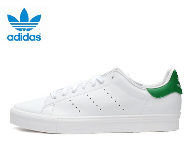 new style 57c2a 4c369 2015 Stan Sumi Suva Luke Adidas white green men adidas STAN SMITH VULC  S77450 WHT/GRN/WHT leather men sneakers men's sneaker