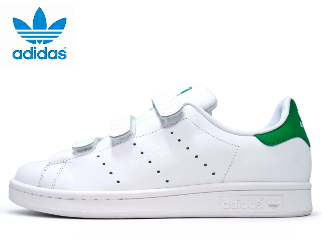 Adidas Stan Smith Velcro comfort Womens sneakers adidas STAN SMITH CF J S82702 WHT/WHT/GRN sneakers ladies sneaker
