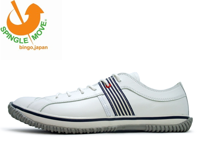 スピングルムーブ SPM-168 ホワイト/ネイビー WHITE/NAVY SPINGLEMOVE