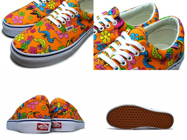 Vans era mens sneakers VANS / vans ERA Ella VAN DOREN ORANGE / SEA CREATURES Van Doren Orange / sea creature VN-0ZULFP2 MENS / men's vans /