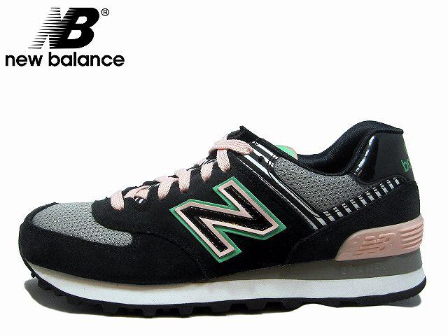 new balance wl574 bfk black pink