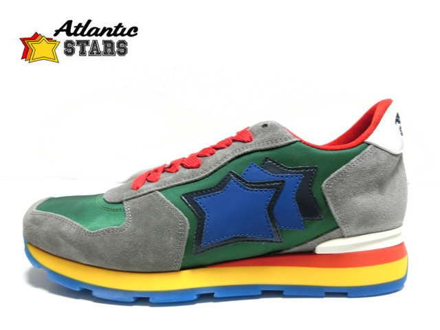 アトランティックスターズ メンズ Atrantic STARS ANTARES CV-49B グリーン グレー スニーカー 【送料無料】