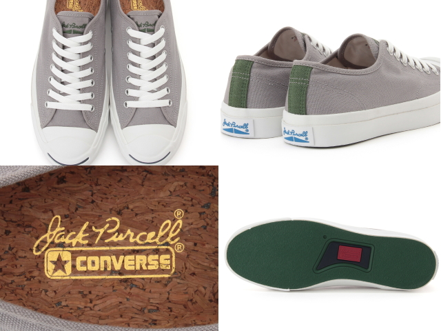 converse jack purcell gray x694  Converse Jack Pursel knit Thailand CONVERSE JACK PURCELL KNITTIE gray /  green