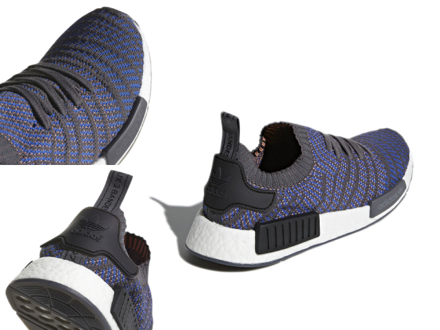 314783d7264ac Adidas N M D NMD R1 STLT PK men black gray ADIDAS sneakers easy boost