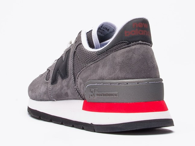 best service 8a7aa 3cc33 ... New balance 990 newbalance USA m990 HL GREY BLACK RED grey mens  sneakers mens Made in ...