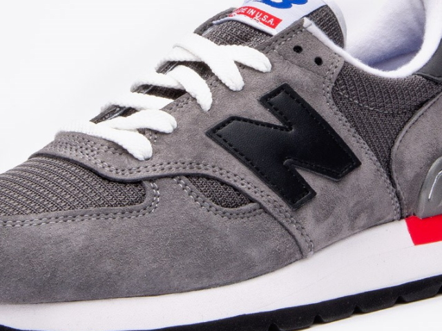 separation shoes 14a53 b2323 ... New balance 990 newbalance USA m990 HL GREY BLACK RED grey mens  sneakers mens Made in