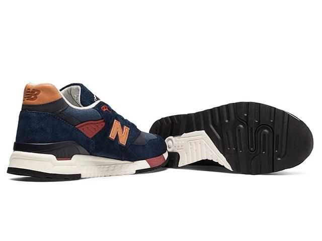 新平衡 998 海军 newbalance 男装 M998 DSA 海军红制造的美国男子运动鞋男士运动鞋 /