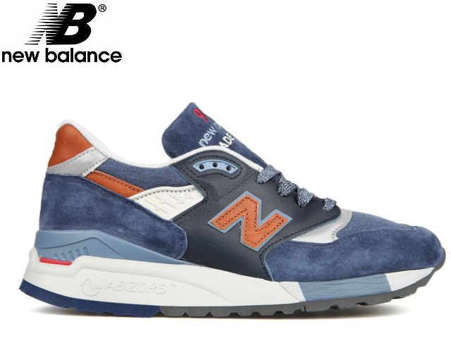 premium selection ac212 681a3 New Balance 998 navy newbalance men M998 DSNG navy   brown made in USA men s  sneaker ...