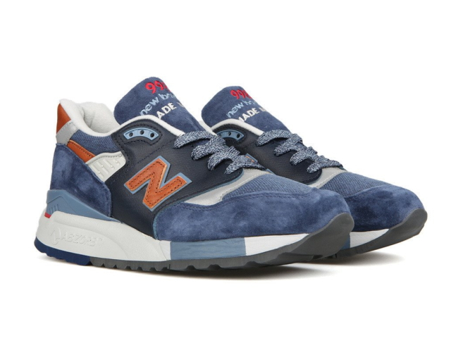 uk availability 20047 af3ed New Balance 998 navy newbalance men M998 DSNG navy / brown made in USA  men's sneaker men sneakers
