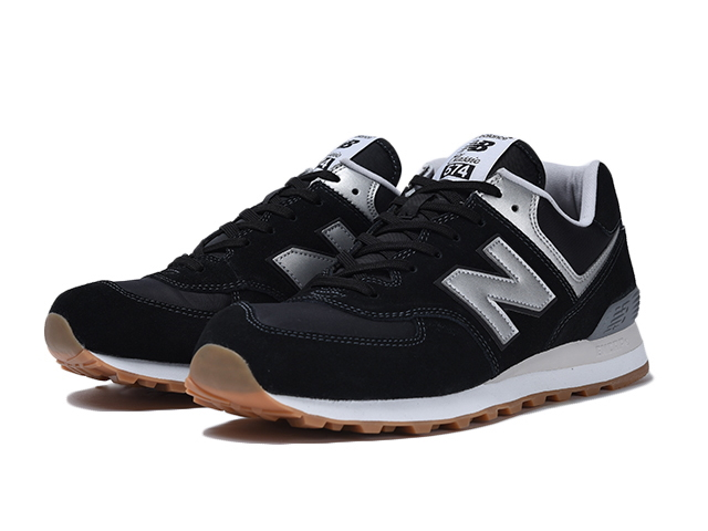 black and gray new balance 574