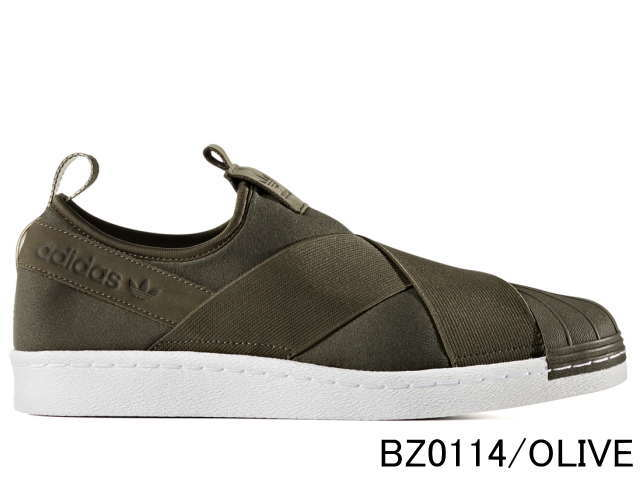 adidas superstar khaki slip on