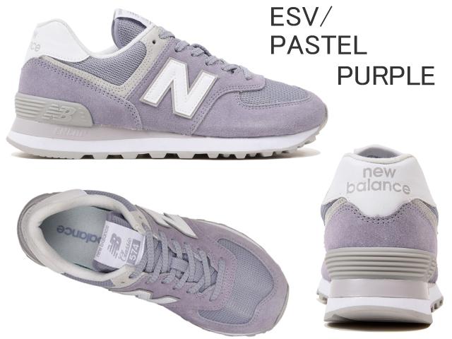 new balance 574 purple and white