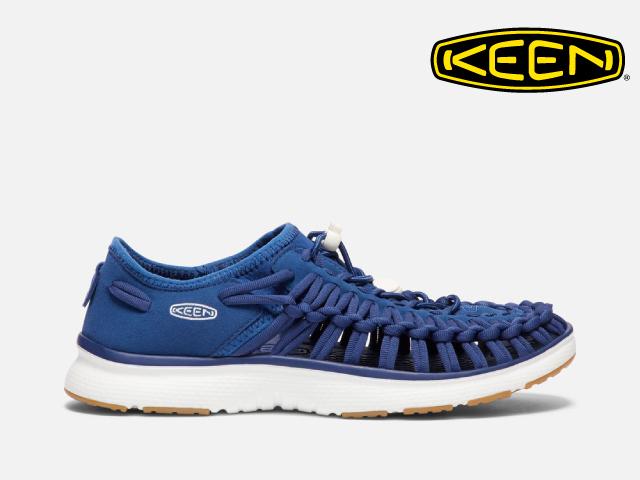 キーン ユニーク オーツー レディース サンダル KEEN UNEEK O2 ブルー HARVEST 最安値挑戦 定番から日本未入荷 GOLD 1018729 BLUE ESTATE