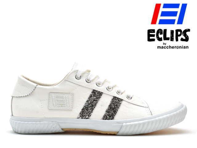 エクリプス ECLIPS マカロニアン maccheronian レディース スニーカー 42013 ホワイト/シルバー CLASSICS