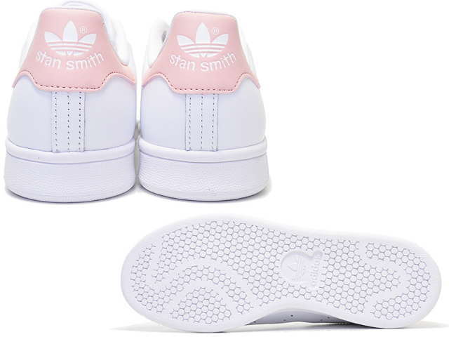 45cc1338a3 Adidas Stan Smith pink Womens adidas STAN SMITH J B32703 white / pink  women's sneakers