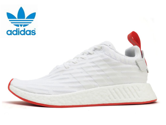 wholesale dealer bae40 3acf4 Adidas N M D NMD R2 PK men white red adidas ORIGINALS BA7253 sneakers  sneaker