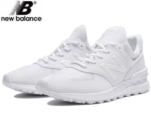 New Balance 574 men's lady's new balance MS574S SWT white sneakers newbalance
