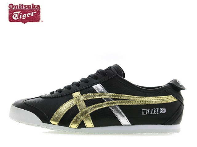 onitsuka tiger mexico 66 black red gold