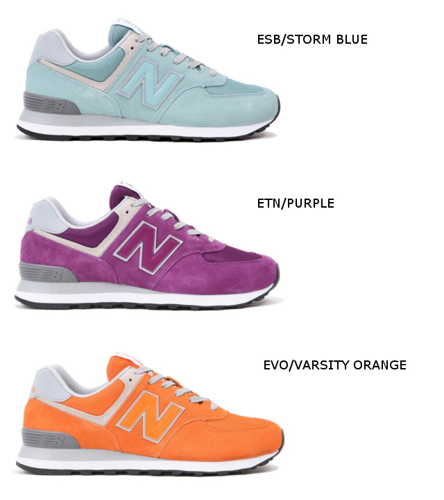 New Balance 574 men's lady's ML574 ESB ETN EVO orange purple blue newbalance sneakers