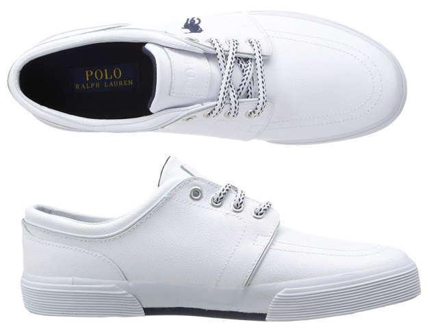 Faxon Sneakers Men Polo 816527220002 White Lauren Low Leather Sneaker Ralph 1TFKJcl