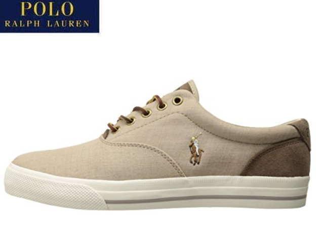 bf0e9ece46 Polo Ralph Lauren sneakers men Vaughn POLO RALPH LAUREN VAUGHN TAUPE/DARK  TAUPE 816674546004 SNEAKER