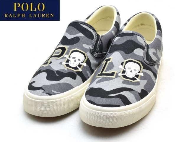 d5fcf229 Polo Ralph Lauren sneakers men slip-ons POLO RALPH LAUREN THOMPSON P  SLIP-ON BLACK CAMO camo 816694618001 SNEAKER