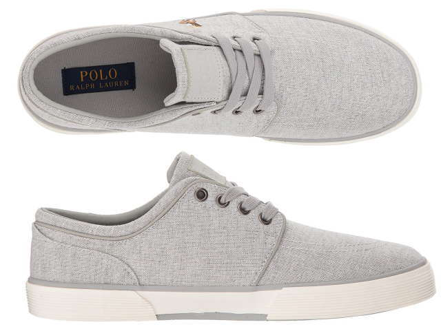 ポロ ラルフローレン スニーカー メンズ POLO RALPH LAUREN FAXON LOW YARN DYED GREY0OPkX8nw