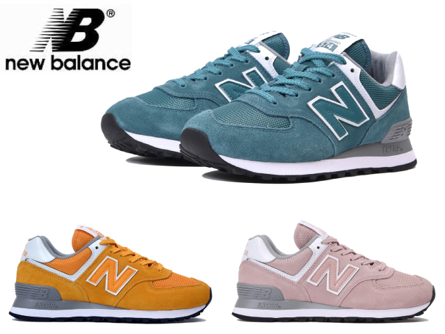 best service d5c02 16787 New Balance 574 Lady's pink blue yellow WL574 UNA UNB UNC newbalance  sneakers pastel color