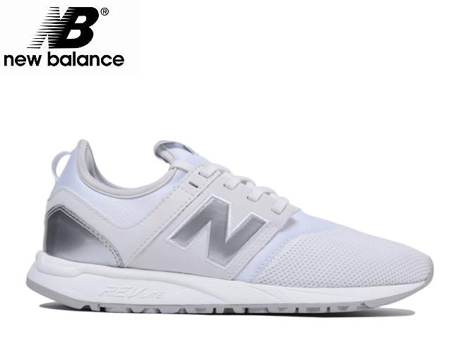新平衡247白银子女士WRL247 SA WHITE SILVER newbalance运动鞋