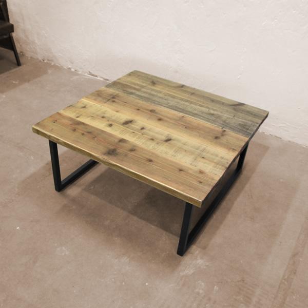 ローテーブル 120 おしゃれ 【R(アール)シリーズ ローテーブル R127】 サイズオーダーローテーブル カフェ風 ハンドメイド 木製 天然木 杉 レトロ ヴィンテージ テーブル ローテーブル