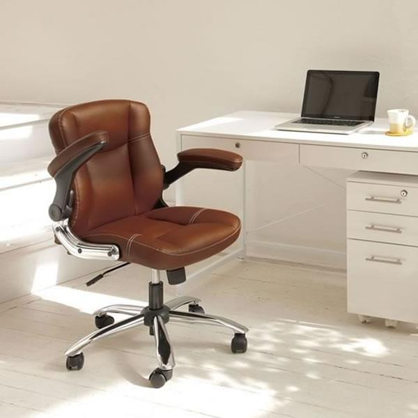 オフィスチェア 椅子 【 mini 】 コンパクトサイズ モカBK キャメル シンプル 新生活 椅子 チェア
