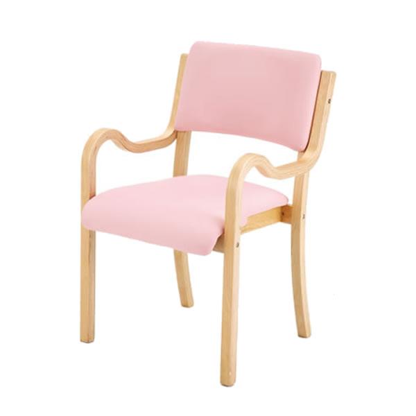 チェア イス スタッキングチェア 【 ミルト 】 4脚セット レザー ブラウン ピンク 収納 リビング 椅子 チェア