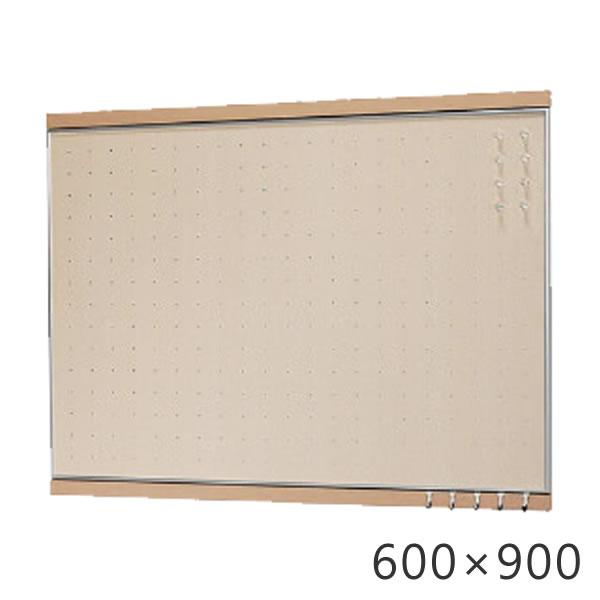 フック付マグネットボード 600×900mm ウッディボード パンチングボード 木製 スケジュール管理 予定 写真 メモ マグネット 磁石 ボード メモボード 壁掛けボード パネル 伝言 掲示板 メッセージボード マグボード  収納