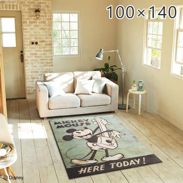 ディズニー ミッキー ラグ ミュージックラグ MICKEY Music RUG DRM-1034 約100×140cm スミノエ
