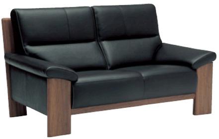 カリモク 2人掛椅子ロング ZU4812