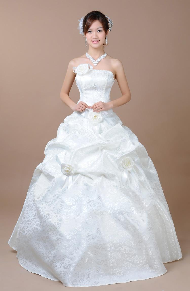 ホワイトウェディングドレス・結婚式/海外挙式/ブライダル/二次会にも d-023