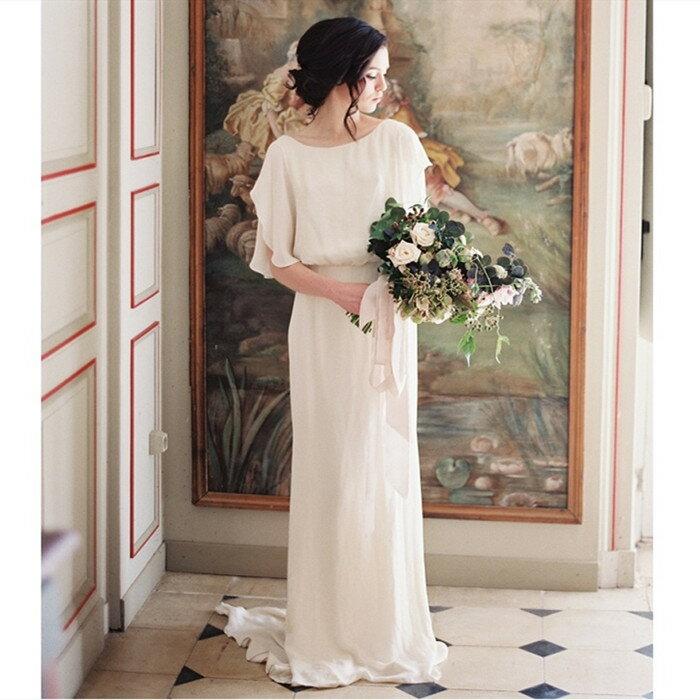 ウエディングドレス 感謝価格 本日の目玉 オーダー 二次会 aラインドレス ワンピース 海外挙式 パーティドレス ドレス 花嫁 結婚式 リゾートウエディングドレス 清楚で上品な