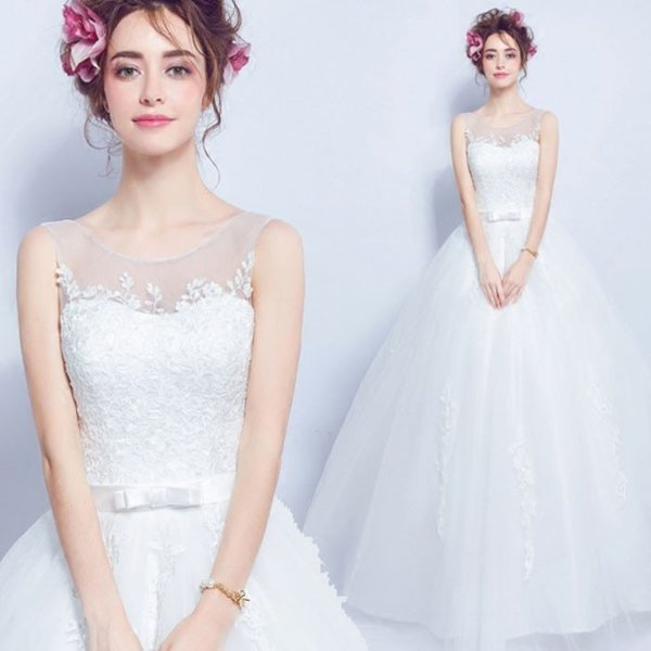 209915d230 The small size wedding ceremony / second party that wedding dress bustier  style princess line no sleeve foreign countries wedding presentation XS -  ...