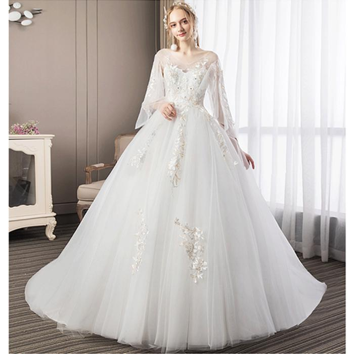 ウエディングドレス 新作 人気 マタニティドレス オーダー 二次会 大きいサイズ ウェディグドレス 正規逆輸入品 ドレス フォトウエディング 海外挙式 トレーン 白
