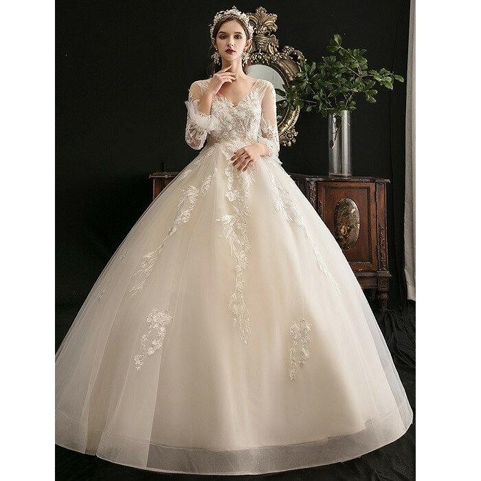 ウエディングドレス マタニティドレス 花嫁 二次会 大きいサイズ プレゼント 結婚式 ドレス プリンセスラインドレス 海外挙式 《週末限定タイムセール》 ワンピース お姫様
