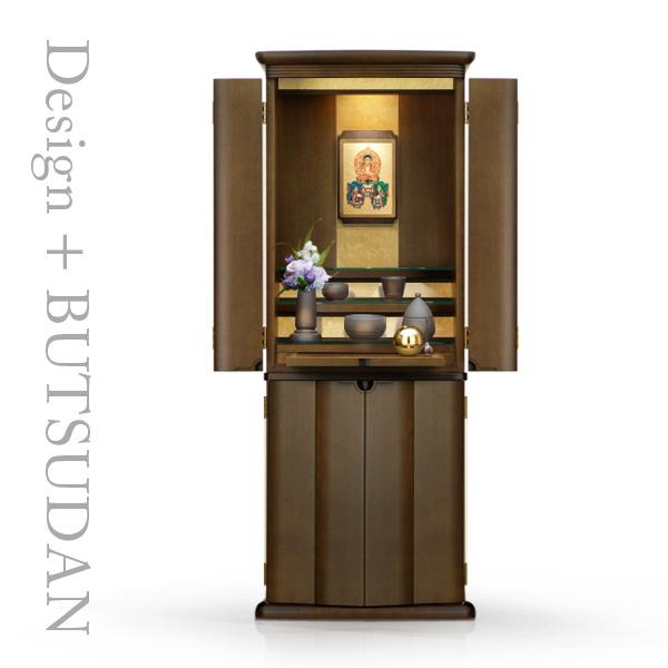 仏壇 仏具 掛軸 ピノ BR色 扉タイプ 国産 日本製 モダン おしゃれ シンプル 洋風
