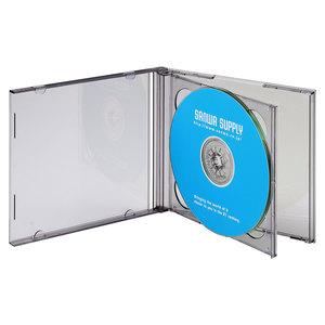 厚さ10mmの標準サイズプラケースにメディア2枚+ジャケット等の収納が可能 サンワサプライ おすすめ DVD CDケース ブラック 代引 世界の人気ブランド FCD-22BKN 後払い決済不可商品