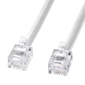 モジュラーケーブル 電話線 白 サンワサプライ 代引 現品 後払い決済不可商品 実物 TEL-N1-20N2