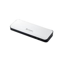エレコム Type-Cドッキングステーション/PD対応/ThunderBolt3対応Type-C2ポート/USB(3.0)5ポート/HDMI1ポート/4極φ3.5端子/SDスロット/LANポート/ACアダプタ同梱/シルバー DST-TB301SV【代引・後払い決済不可商品】