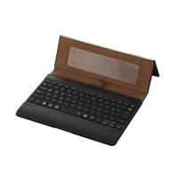エレコム Bluetoothキーボード/ケース一体型/無段階角度調整/マルチペアリング対応/バックライト/ヴィーガンレザー/汎用/ブラック TK-CAP03BK【代引・後払い決済不可商品】