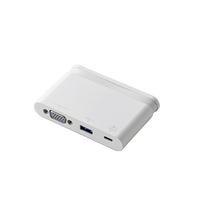 エレコム USB Type-C接続モバイルドッキングステーション DST-C07WH【代引・後払い決済不可商品】