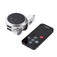 エレコム 2.4A 141ch BluetoothFMトランスミッター LAT-FMBTB05RSV【代引・後払い決済不可商品】