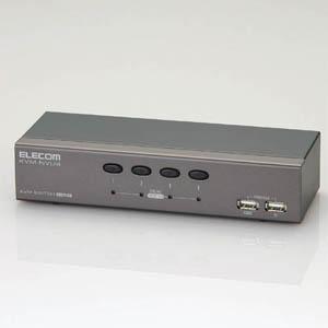 エレコム パソコン切替器 KVM-NVU4【代引・後払い決済不可商品】