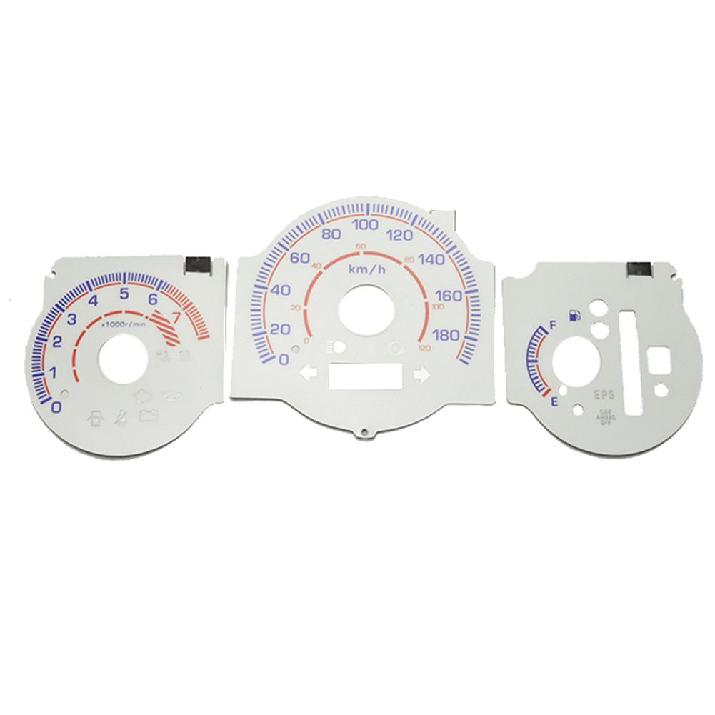EL-HO04WH-C ホワイトパネル Mobilio Spike モビリオスパイク(GK1 2前期後期 2002-2008) HONDA ホンダ ELスピードメーターパネル レーシングダッシュ製(レーシングダッシュ メーター)