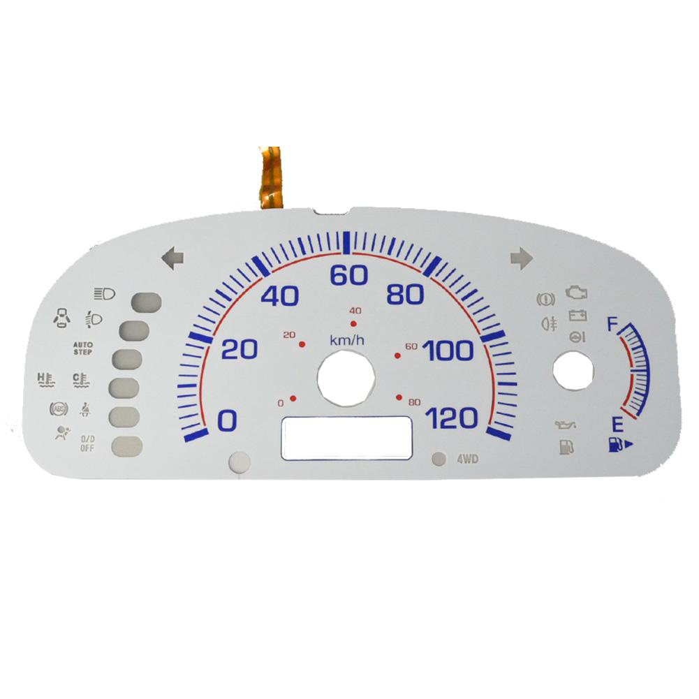 EL-SZ04WH ホワイトパネル EVERY エブリイバンDA64V AT車(2005-2015 H17-H27) SUZUKI スズキ ELスピードメーターパネル レーシングダッシュ製(DA64W エブリィ エブリー カスタム スピードメーター カーアクセサリー ドレスアップ)